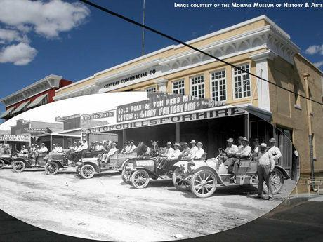 Image of what 4th Street once looked like, in Historic Downtown Kingman.
