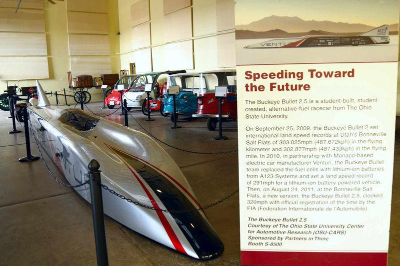 Buckeye Bullet in the Electric Vehicle Museum