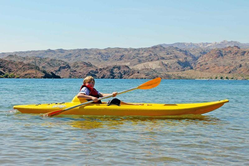 Kayaking on Lake Mohave