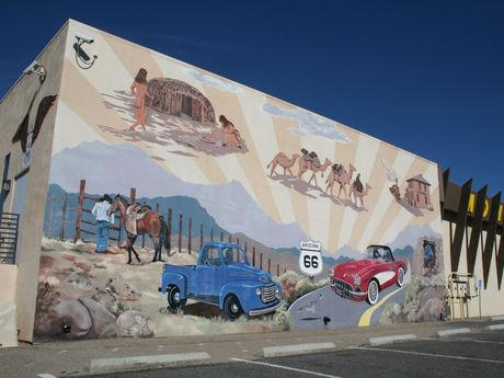 Mural on the Mohave Museum of History & Arts building, in Historic Downtown Kingman on Route 66.
