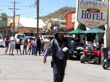 It's high noon in Oatman, AZ. Gunfights happening.