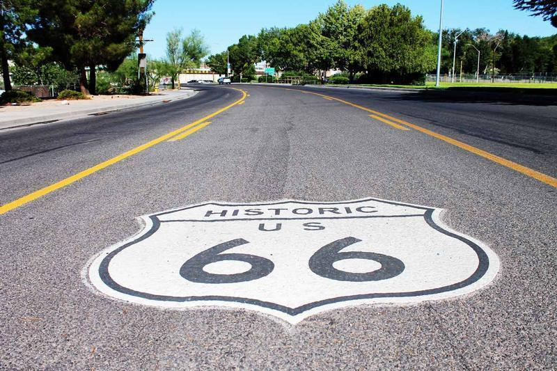Route 66 Shield in street