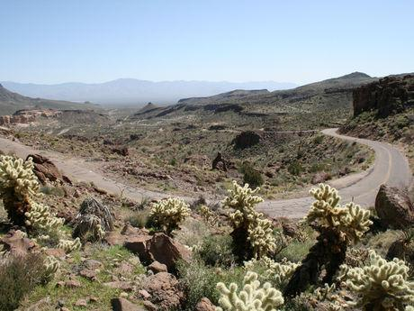 Switchbacks traveling Route 66.