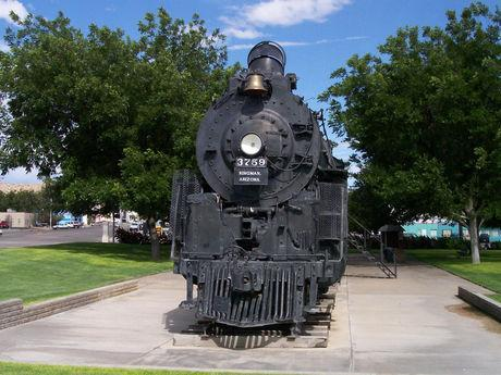 See this Steam Engine, across the street, from the Historic Powerhouse on Route 66, Kingman, AZ.