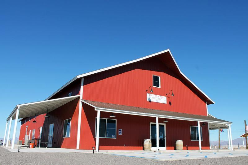 Stetson Winery's big red barn
