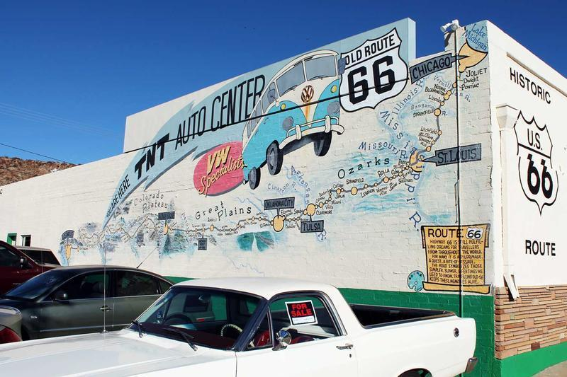 Bob Waldmire mural at TNT Auto in Kingman, AZ