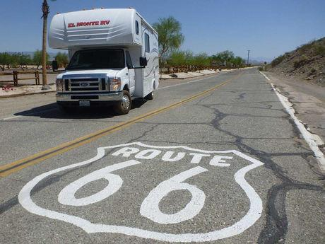RVing. One of the many ways to travel Route 66 though out Arizona, with 5 RV parks in Kingman.
