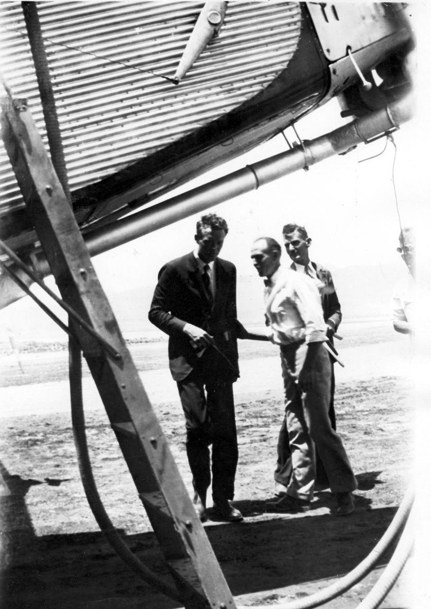 Charles Lindbergh and the spirit of St Louis in Kingman in 1929