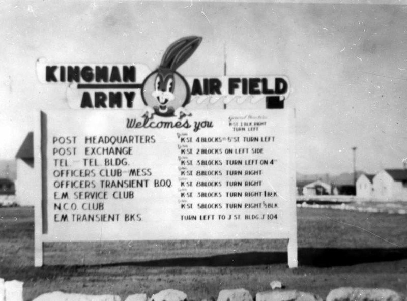 Bugs Bunny was the Kingman Army Airfield Base Mascot on WWII
